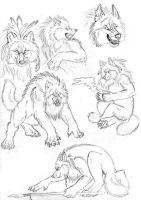 Werewolf sketches by Vlcek