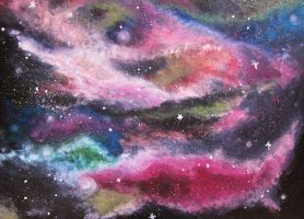 colorful galaxy by feeora