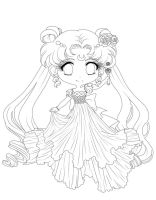 Chibi Serenity Lineart by stargirl1180