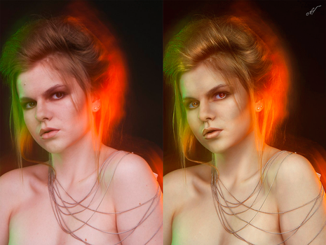 Before/after retouch by ANN-WHITE