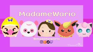 Madame Wario YouTube Banner - Commission by butterxscotch