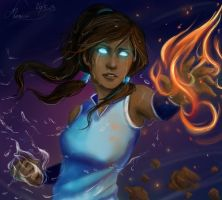 Avatar Korra by MonsieArts