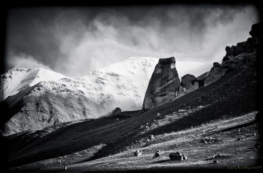 Castle Hill - rock, snow and w by pwillyams