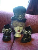 Unseelie tophat and shoes by Starleaf-Creations