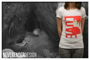LOVE T-Shirt Red by NeverenderDesign