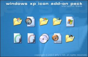 XP Extra Icons - Pack One by jellybeansoup