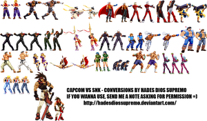 Capcom VS SNK Conversions by HadesDiosSupremo