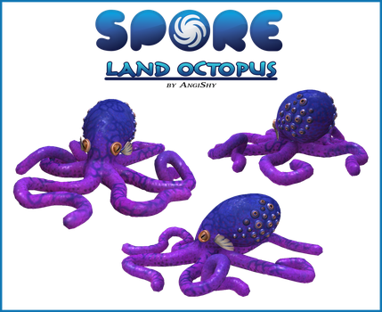 Spore custom creature download - Land octopus by Angi-Shy