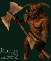Minotaur - Low-Poly by iemersonrosa