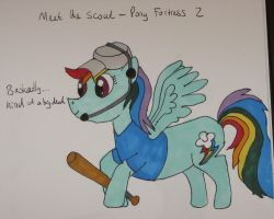 Pony Fortress 2 - Meet the Scout by IronBrony