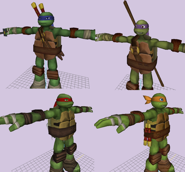 Custom TMNT 3D Models (amature) by Cry4Ugly