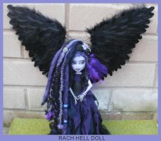 Monster high custom repaint Nightshade fairy mh by Rach-Hells-Dollhaus