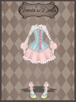 Adoptable Doll 2 Outfit - Evania's Dolls [OPEN] by whianem