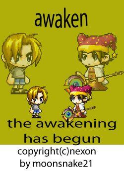 the awaken title page by moonsnake21