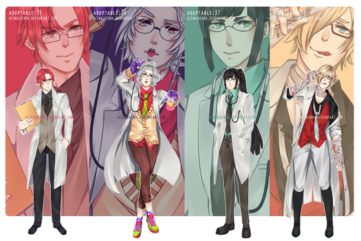 Adoptable 35-38: LAB COATS (OPEN 1/4) by acewalker04