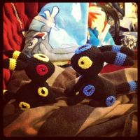 Umbreon (Crochet) by SirPurlGrey