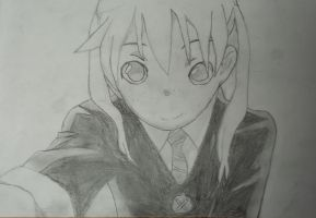 Maka Albarn (uncolored) by roquana
