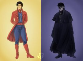 Mr Kent and Mr Wayne by Vimeddiee