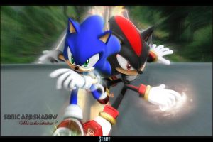 Sonic and Shadow by Strifestyle