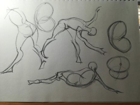 Gesture and the bean study sheet(2 of 2) by Andrix9743