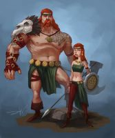 Viking Siblings by lordbaells