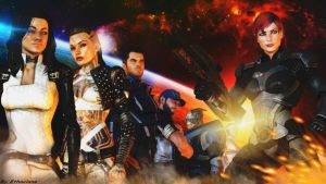 Mass effect wallpaper - (Femshep version) by ethaclane