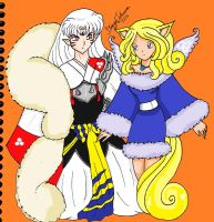 Sesshomaru and Sapphira2 by bluebellangel19smj