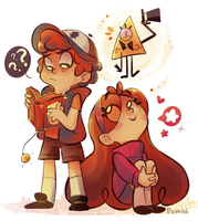 Gravity Falls (improvement) by ivymaid