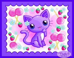 Strawberry Swirl Kitty by Princess-Peachie