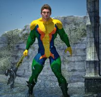 Aquaman second skin textures for M4 by hiram67