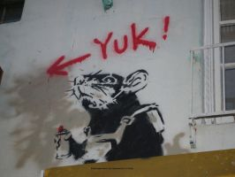 Banksy's Rat 01. by GermanCityGirl