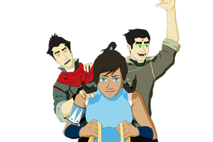 Team Avatar!! Korra version (color) by ToyotaCarolla