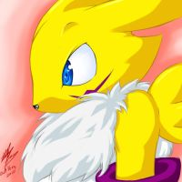 Renamon doodle by Chingilin