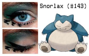 Pokemakeup 143 Snorlax by nazzara