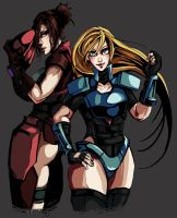 Contra -Lucia and Sheena- by lightning-seal
