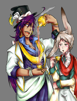 Aladdin in wonderland-sindbad and ja'far by julymarte