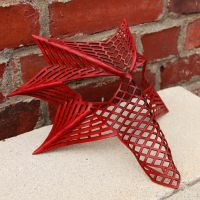 Angular Dragon Mask in Red by DracoLoricatus