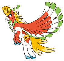 Johto Legendary Pony Ho-oh by otakugal15