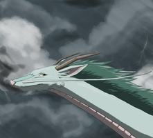 Haku and a Storm by Acotas