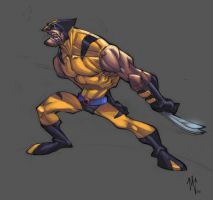 wolverine colored by ZurdoM