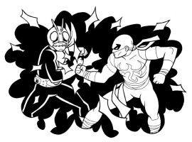 Kamen Rider vs. Iron Fist by JoelRCarroll