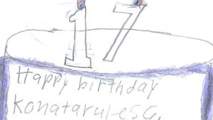 a picture of konatarules6's bithday cake by sailorcancer01