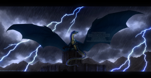 Death of a storm by Bluehasia