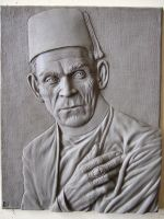 Boris Karloff plaque by revenant-99