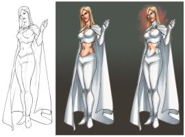 Emma Frost by Graconius