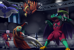 Hawlucha Brawl Fest by ShadowScarKnight