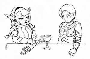 A drink for the noble one by StyxTheMad