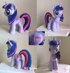Twilight Sparkle Plushie!  (SOLD) by moggymawee