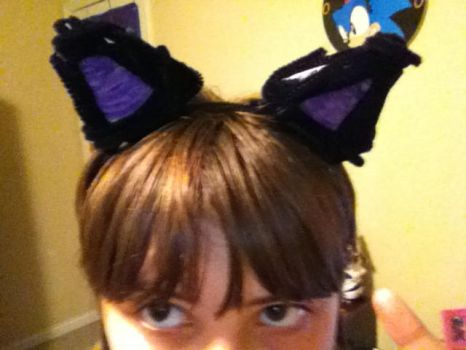 Homemade cat ears by teal1114