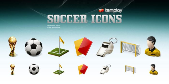 Soccer Icons by templay-team